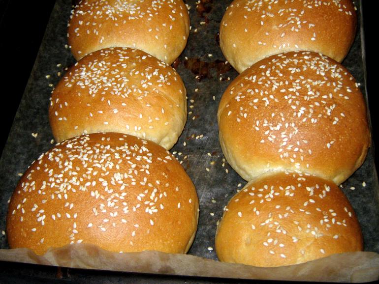 Вкуснейшие булочки для гамбургеров