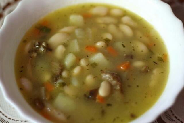 Вкуснейший суп из фасоли и шампиньонов в мультиварке