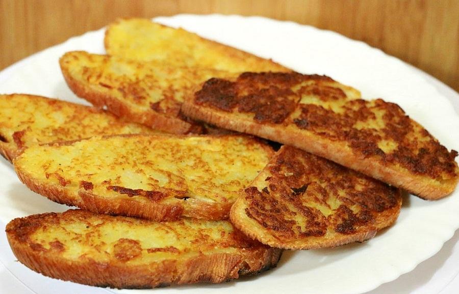 Вкусные картофельные тосты к завтраку