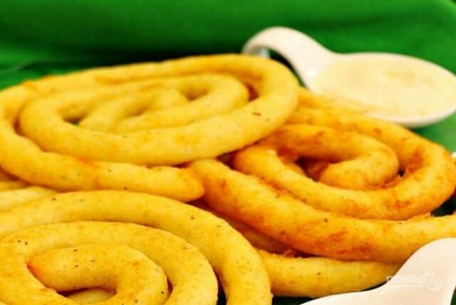Оригинальные картофельные спирали