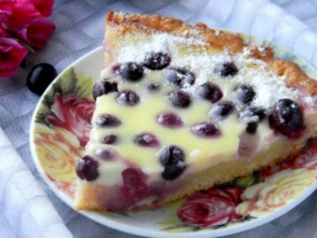Обалденный виноградный пирог