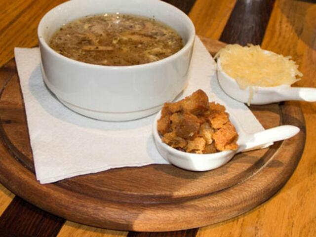 Ароматный чешский чесночный суп