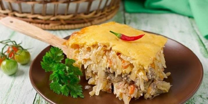 Быстрый ужин: капустная запеканка с мясом