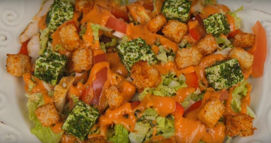 Нежный и романтичный салат «Адам и Ева» без майонеза