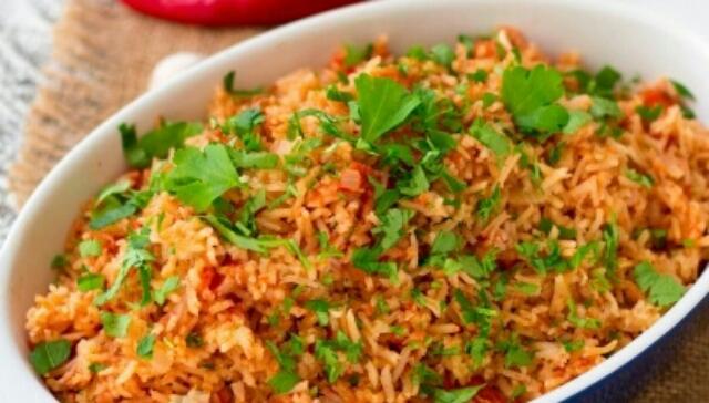 Вкуснейший гарнир для любителей мексиканской кухни - красный рис