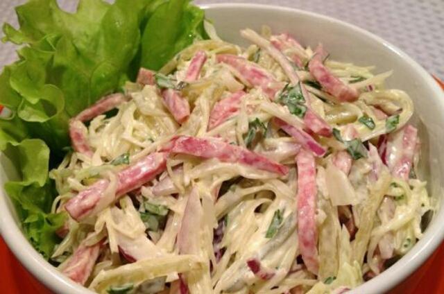 Салат из свежей капусты рецепт с очень вкусный с сыром