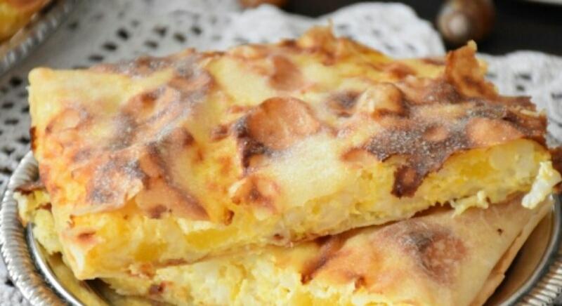 Аппетитный пирог с тыквой и рисом