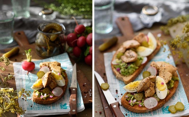 Отличная закуска-тортинки с авокадо и печенью трески