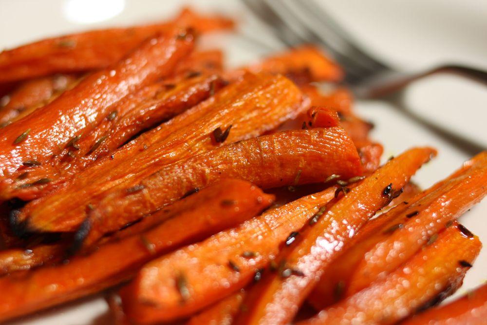 Полезный гарнир к любому блюду - запеченная морковь