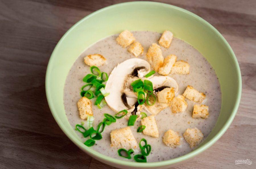 Изысканный крем-суп из грибов по-фламандски