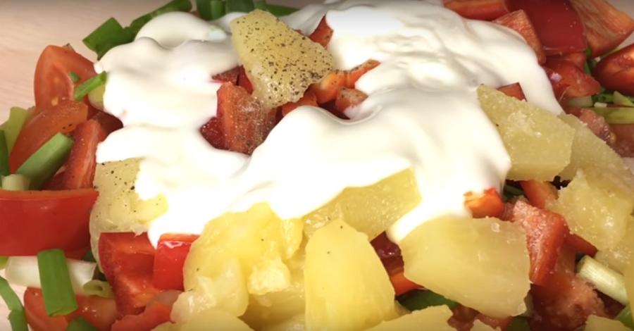 Легкий и нежный салат «Наслаждение» без майонеза