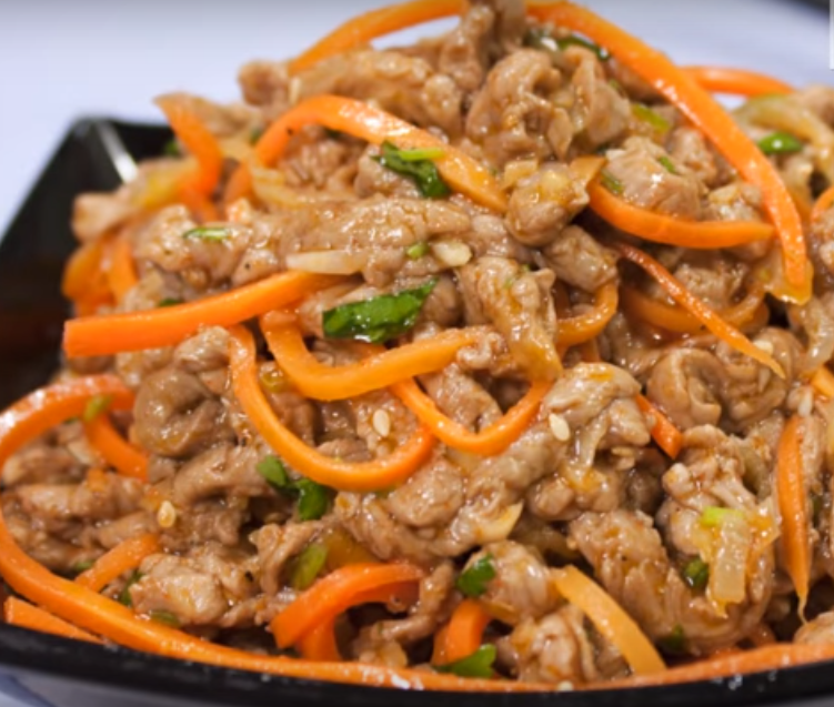 """Остренькое """"Хе"""" из мяса по-корейски"""