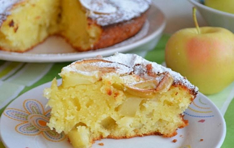 Манник с яблоками-вкус из детства