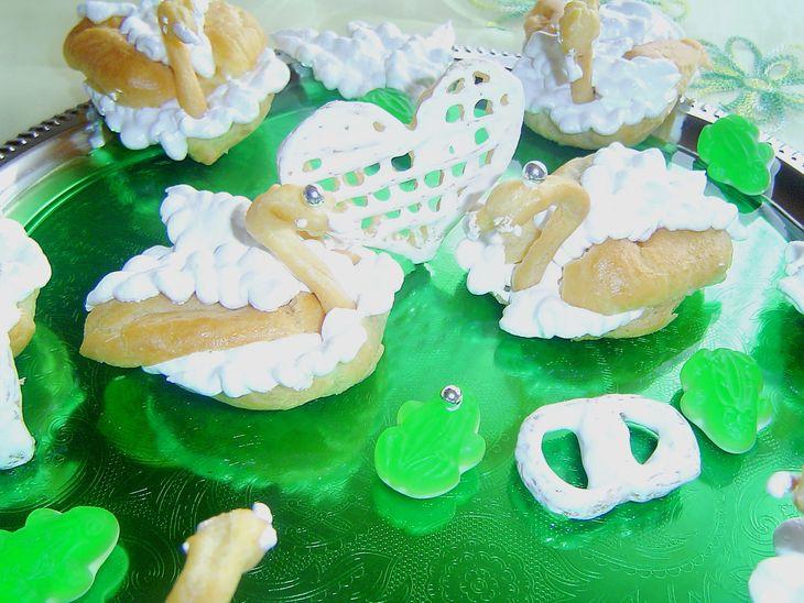 Оригинальное и очень вкусное пирожное «Лебеди»