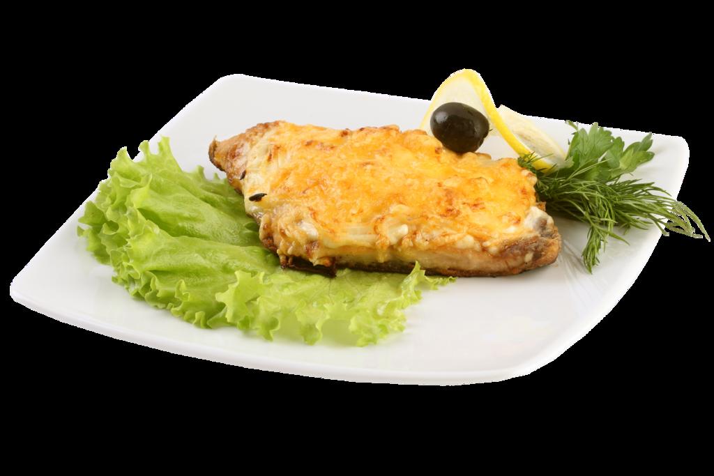 """Нежное рыбное филе, запеченное под сырной """"шапкой"""""""