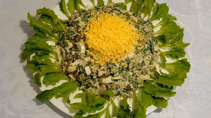Невероятно красивый и вкусный праздничный салат «Улетный цветочек»