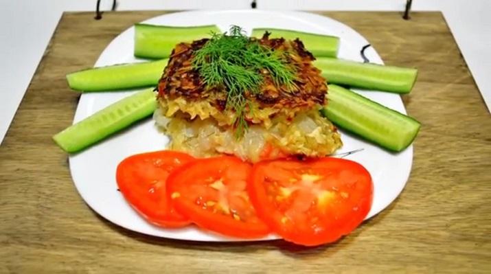 Необычная запеканка с картошкой и колбасным сыром