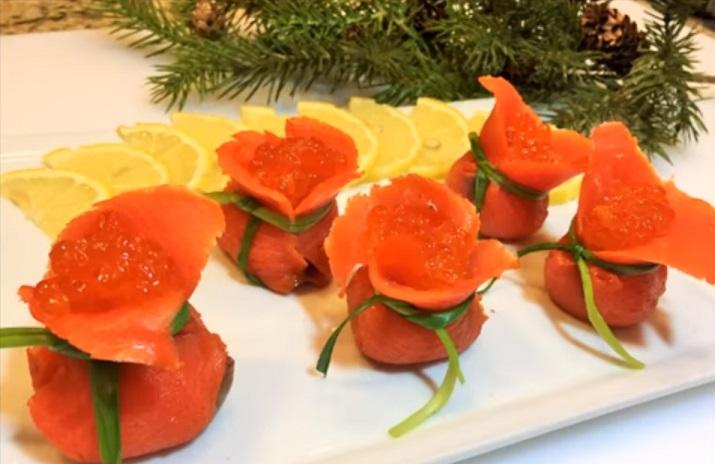 Новогодняя закуска «Мешок Деда Мороза»