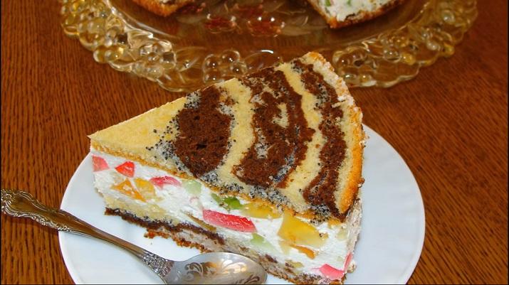 Очень вкусный и необычный торт «Цыганские тропы»: без украшения