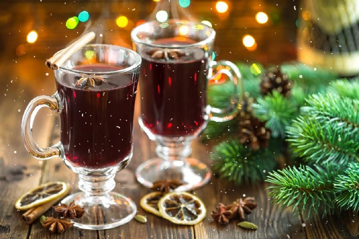 Горячий напиток для зимних холодов: безалкогольный глинтвейн