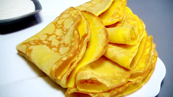 Блины тыквенные-вкусный осенний завтрак