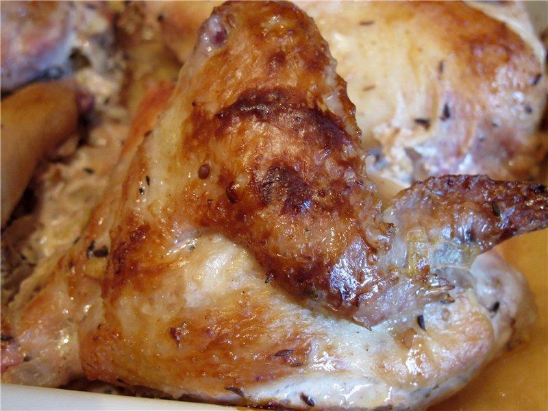 Изумительный маринад для курицы из йогурта
