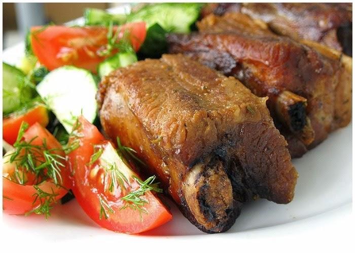 Жареные свиные ребрышки (готовим в мультиварке)