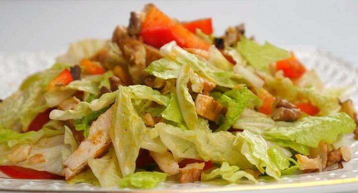 Новогодний салат «Феерия»: без майонеза