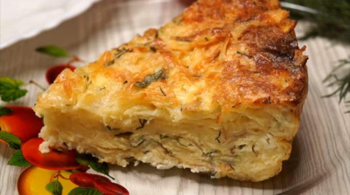 Рваный пирог из лаваша с сыром и брынзой за пару минут