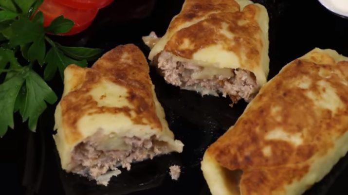 Вкусные картофельные рулетики с мясом: сытные и сочные