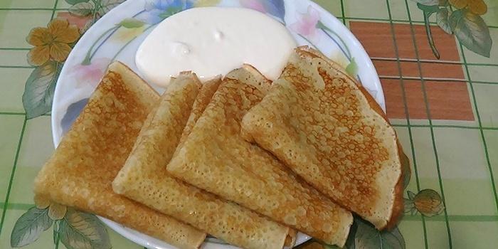 Аппетитные тоненькие молочные блины