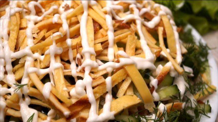 Оригинальный салат «Соломка»: покорит всех гостей