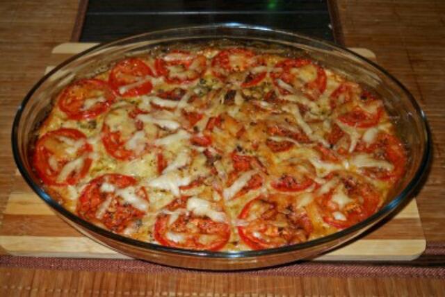 Очень вкусная пицца из кабачков