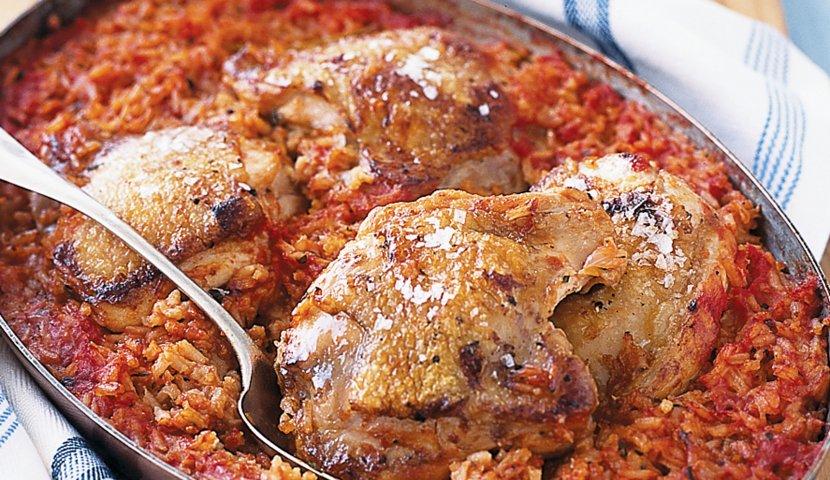 Вкуснейшая курица с рисом в томатном соусе