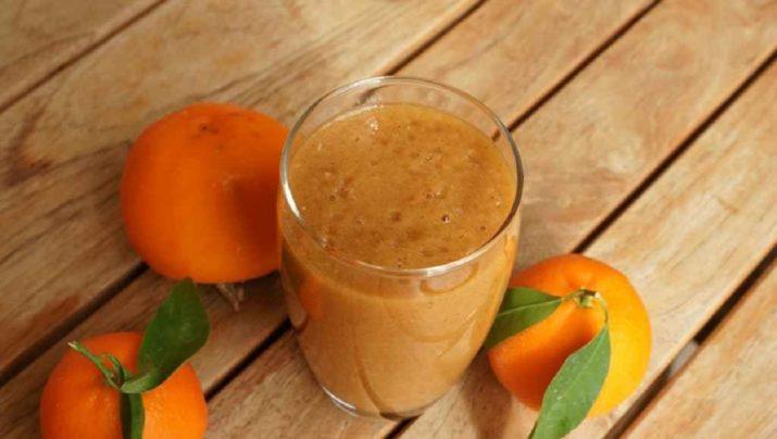 Зимний рецепт: смузи из хурмы и апельсина для похудения