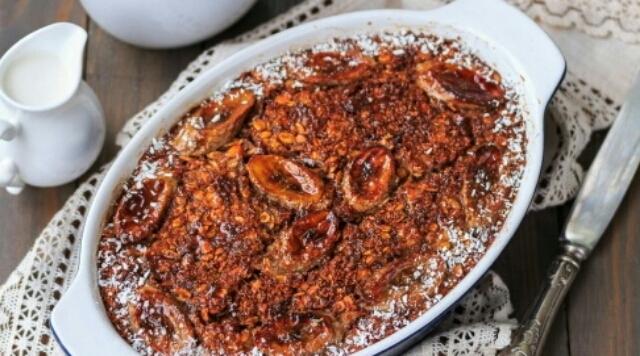 Вкуснейшая геркулесовая каша в духовке