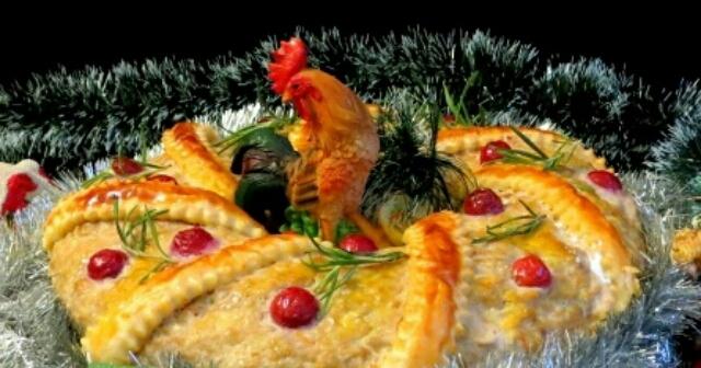 Потрясающий мясной венок к Новогоднему столу