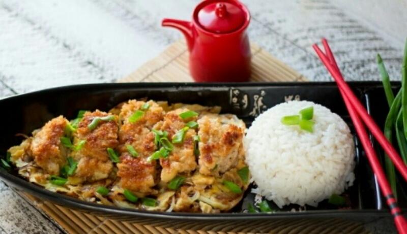 """Простое, быстрое и легкое блюдо на ужин """"Кацудон"""""""