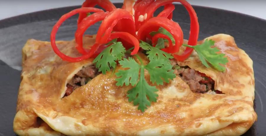 Вкуснейший омлет с начинкой по-тайски