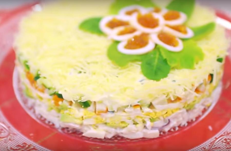 """Очень вкусный салат """"Нежность"""""""