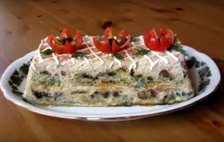 Превосходный рыбный торт
