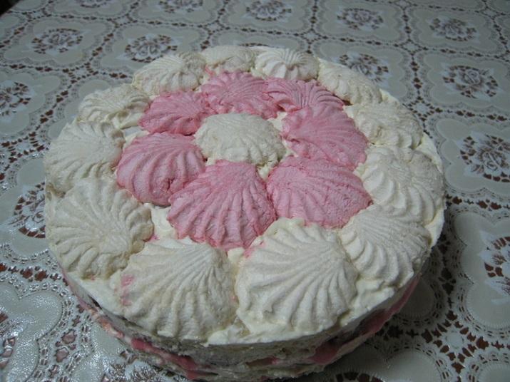 Невероятно вкусный торт без выпечки из зефира