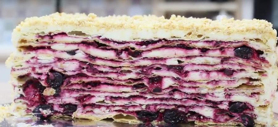 """Торт с волшебным вкусом и кремом """"Пломбир"""""""