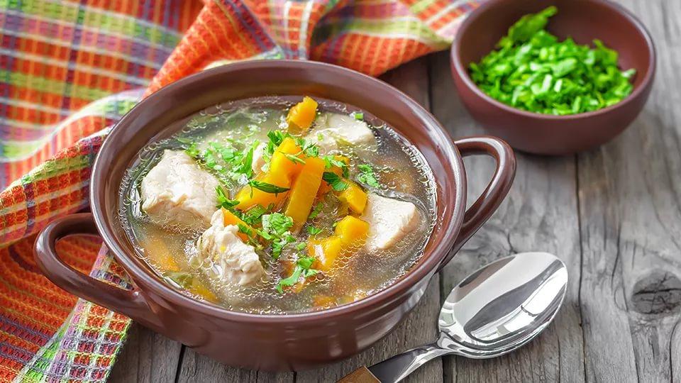 Изумительный картофельный суп-соус с мясом