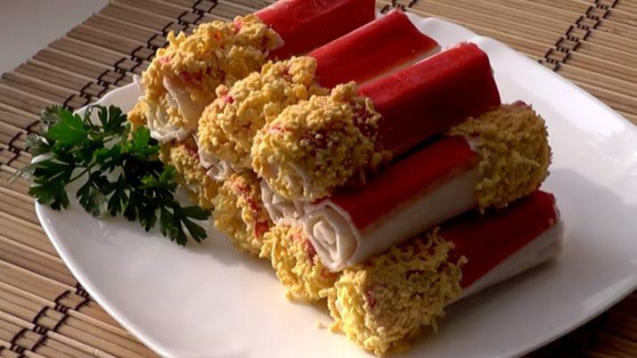 Очень быстрая и вкусная закуска: фаршированные крабовые палочки