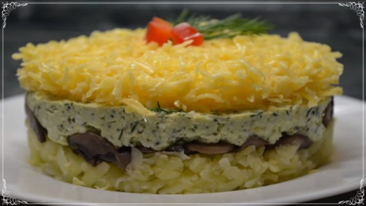 Вкуснейший салат «Грибы под шубой» на новогодний стол