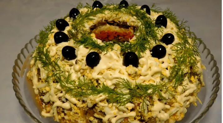 Вкусный и красивый салат «Купеческий»: на праздничный стол