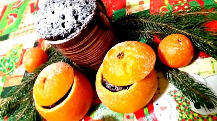 Десерт за три минуты: вкусный шоколадный кекс в апельсине