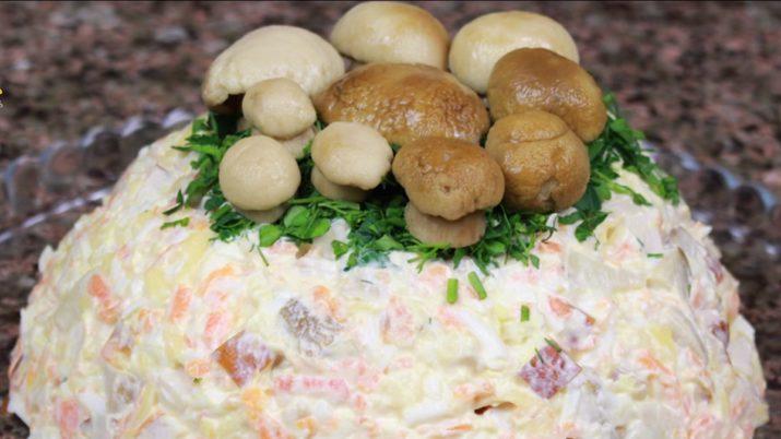 Очень вкусный и сытный новогодний салат «Зимняя сказка»