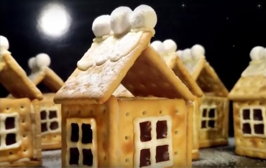 Десерт без выпечки-восхитительные новогодние домики